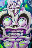 Abstract ugly skull head graffiti Royalty Free Stock Image
