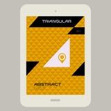 Abstract uimalplaatje met Tabletpc op driehoekig Stock Foto