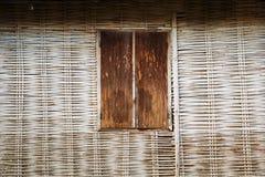 Abstract uitstekend behang van bamboehout Royalty-vrije Stock Foto's