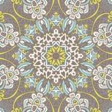Abstract uitstekend bloemen etnisch naadloos patroon sier Stock Afbeeldingen