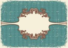 Abstract uitstekend frame met vignetten voor tekst Royalty-vrije Stock Afbeelding