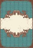 Abstract uitstekend frame met vignetten voor tekst Vector Illustratie