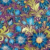 Abstract uitstekend naadloos bloemenornament Royalty-vrije Stock Afbeeldingen