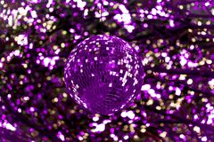 Free Abstract Ultra Violet Disco Ball Stock Photography - 112631152