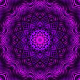 Abstract Ultra Violet Mandala Design Stock Photo