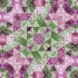 Abstract ultra violet triangles mosaic pattern effect patchwork carpet. Ultra violet triangles mosaic pattern effect patchwork carpet Stock Photo