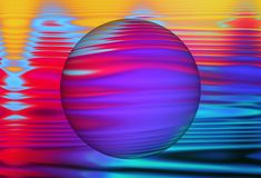 Free Abstract Ultra Violet Waves Holographic Background Royalty Free Stock Photo - 141222895