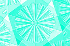 Abstract umbrella. Illustration of an abstract cyan and white umbrella royalty free illustration