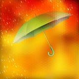 Abstract umbrella and raindrops. EPS 10 Stock Image