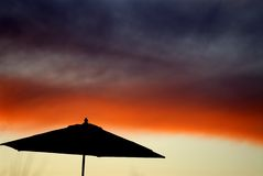 Abstract Umbrella Sunset Royalty Free Stock Photo