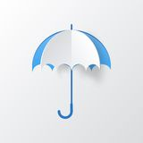 Abstract Umbrella on White Background Stock Photo