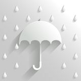 Abstract Umbrella on White Background Royalty Free Stock Photo