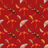 Abstract umbrellas seamless pattern background. Royalty Free Stock Images
