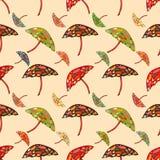 Abstract umbrellas seamless pattern background. Stock Photos