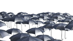 Abstract Umbrellas Soaring in the air loop background stock video footage