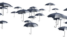 Abstract Umbrellas Soaring in the air loop background stock video