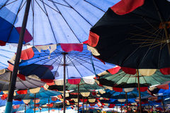 Abstract under big umbrella royalty free stock images