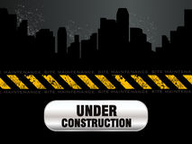 Abstract under construction background Royalty Free Stock Image