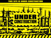 Abstract under construction background Stock Image