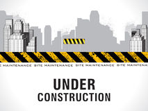 Abstract under construction background. Vector illustration Royalty Free Stock Photos