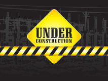 Abstract under construction background Stock Photo
