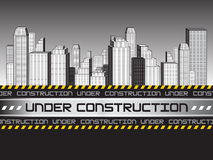 Abstract under construction background Royalty Free Stock Photo