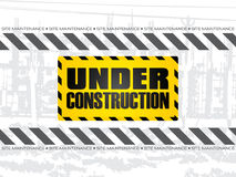 Abstract under construction background. Vector illustration Stock Images