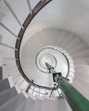 Abstract under spiral stairs Royalty Free Stock Photo