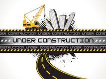 Abstract underconstruction background Stock Photos