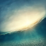 Abstract underwater background Royalty Free Stock Photos