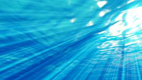 Abstract underwater backgrounds with sun beam and water ripple. 3d rendering Royalty Free Stock Images
