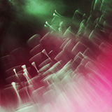 Abstract, underwater, colorful composition with bubbles Stock Images