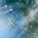 Abstract underwater composition with jelly balls, bubbles and light Stock Photo