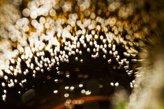 Abstract underwater games with bubbles and light Royalty Free Stock Photo