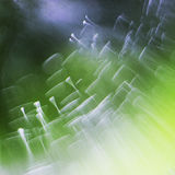 Abstract underwater games with jelly balls, bubbles and light Stock Photo