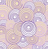 Abstract uneven circle elements in optical art style, seamless futuristic low contrasting background in pink and purple. Colors, vector EPS 10 stock illustration