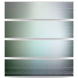 Abstract unfocused natural headers set, blurred Royalty Free Stock Photography