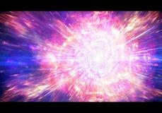 Abstract unique artistic digital drawing of a supernova artwork vector illustration