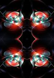 Abstract unique 3d computer generated beautiful multicolored round fractals artwork background royalty free illustration