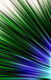 Dark  background. Colored strips diverge from the bottom to the edges. Abstract unique. Illustration and decoration. Green and white, blue and black  strips on Stock Images