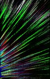 Dark  background. Colored strips diverge from the bottom to the edges. Abstract unique. Illustration and decoration. Green and white, blue and red, violet Royalty Free Stock Image