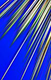 Dark blue background. Colored strips diverge from the bottom to the  top. Abstract unique illustration and decoration. Green, white and brown colors on a blue Stock Photography