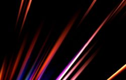 Dark background. Colored strips diverge from the bottom to the edges. Abstract unique. Illustration and decoration. Red and blue, purple and yellow, black and Stock Photography