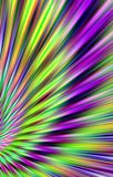Colorful background from the  strips diverge from the bottom to the edges. Abstract unique. Illustration and decoration. Violet and yellow, purple and green Stock Photo