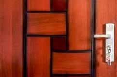 Abstract unique wooden pattern door Stock Image
