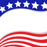 Abstract United States flag stars wave background. stock images