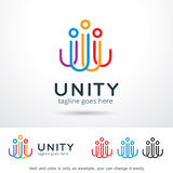 Abstract Unity People Logo Template Design Vector stock illustration