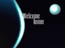 Abstract universe welcome home Royalty Free Stock Photo