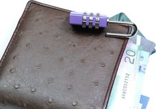Abstract unlock your wallet Stock Image