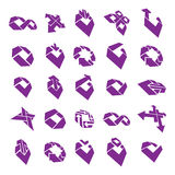 Abstract unusual  icons set, creative symbols collection,. Stylish templates Royalty Free Stock Photos